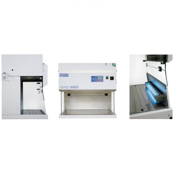 AURA_Mini_laminar_flow_cabinet_vertical_benchtop_compact